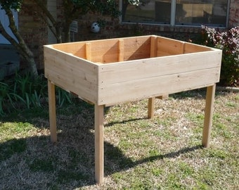 Brand New Elevated Garden Planter, 2 feet by 2 feet planting table - Free Shipping