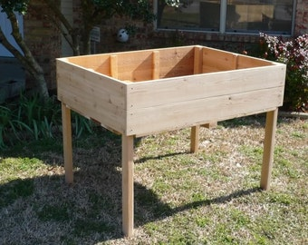 Brand New Elevated Garden Planter, 3 feet by 3 feet planting table - Free Shipping