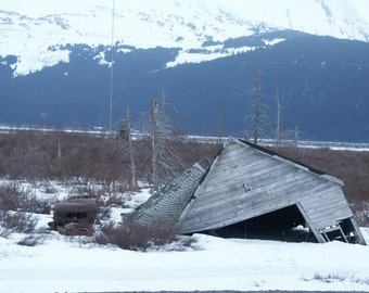 Old Turnagain Cabin and Pickup
