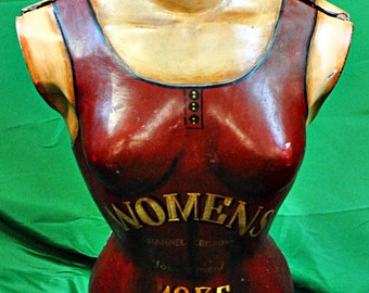 "1935 Womens Channel Crossing Tournament Manequin 22"" tall, 15"" wide.-(1411-122)"
