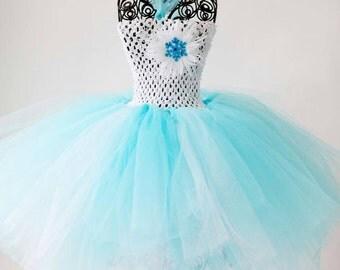 Hand made Frozen inspired tutu dress
