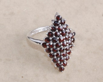 Red Garnet 925 Sterling Silver Ring / Red Ring / Natural Gemstone Ring / January Birthstone Ring / Women Ring / Gift for her R1465