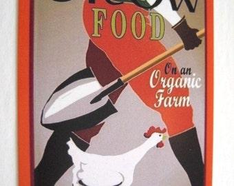 Grow Food On An Organic Farm - Farming  Vintage Style Decal / Sticker for Car Laptop Locker Wall Window Book
