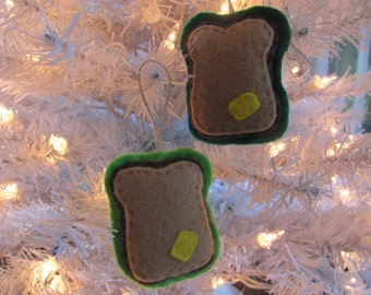 Little Felt Toast/Bread and Butter Ornaments