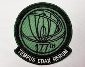 """177th Temporal Recon Unit """"Tempus Edax Rerum"""" Insignia Patch"""