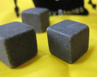 Brand new black Whisky stones 9pcs/set in velvet bag, whiskey stone rock