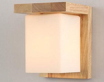 Handcrafted Wooden original wodern simple wall lamp Decorative lamp Night lamp Solid Wood lamp Vintage Decorative lamp