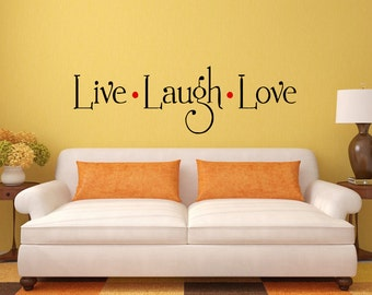 Live Love Laugh Wall Decal Sticker Vinyl Mural Bedroom Leaving Room Home Decor FREE SHIPPING L235