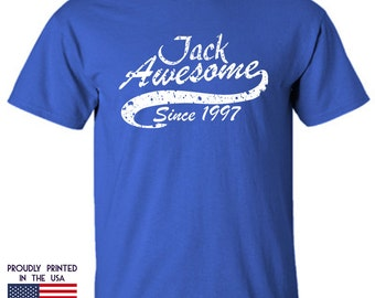 Jack Awesome Since 1997 Custom Name Date Birthday Design