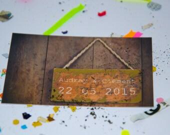 Save the date scratch card original