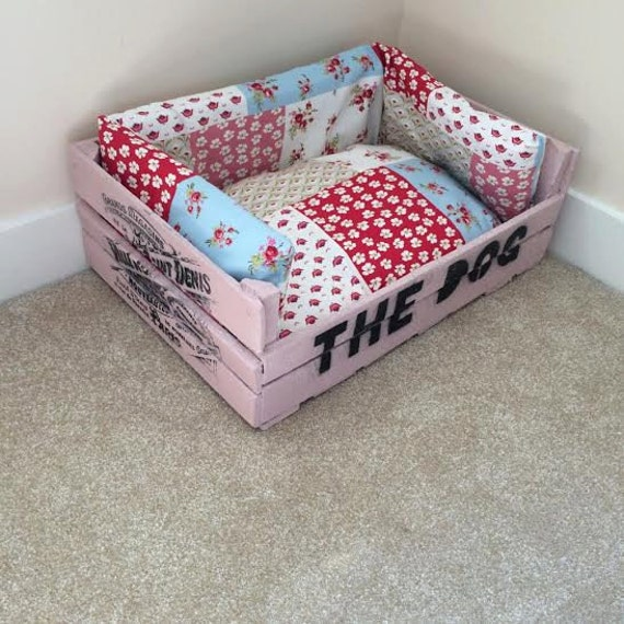 Items similar to shabby chic dog bed on etsy for Shabby chic dog