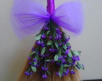 24 inch Purple Wedding Broom, Jumping Broom
