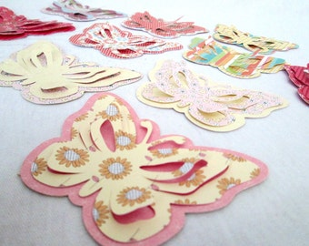 Butterfly Die Cuts Butterfly Party Favors Spring Die Cut Butterflies Butterfly Embellishment Scrapbooking  Cupcake Toppers Party Favors