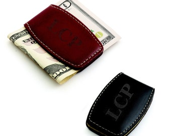 Leather Money Clip (g150-1614) - Free Personalization