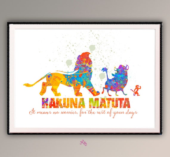 The Lion King Hakuna Matata Room Decor for for by ...