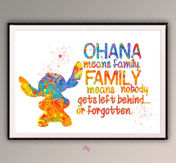 Ohana Means Family Quote Tattoo: Ohana Means Family Family Means Nobody Get Left Behind. Quote