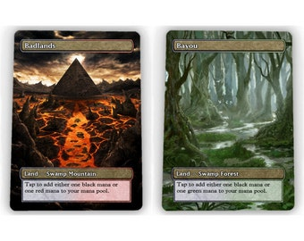 1X of all 10 Dual Lands == Full Art Borderless MtG == NM / MINT