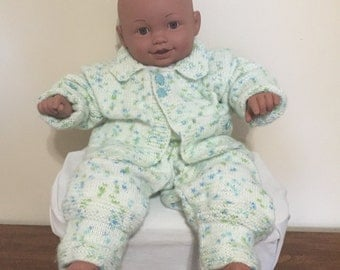Baby Boy, Knitted Outfit 9-18 month