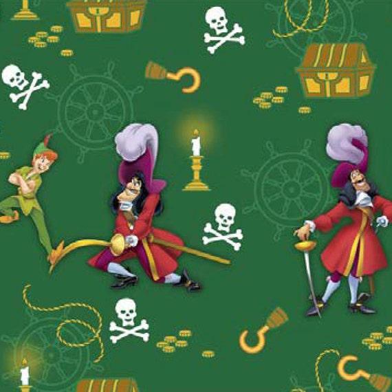 Disney peter pan et capitaine crochet coton par - Peter pan et capitaine crochet ...