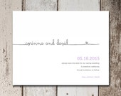 Cute & simple Save The Date card with a simple cursive font and elegant design.