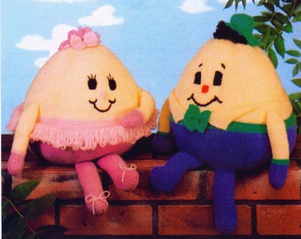 humpty dumpty and harriet  toy dk knitting pattern 99p