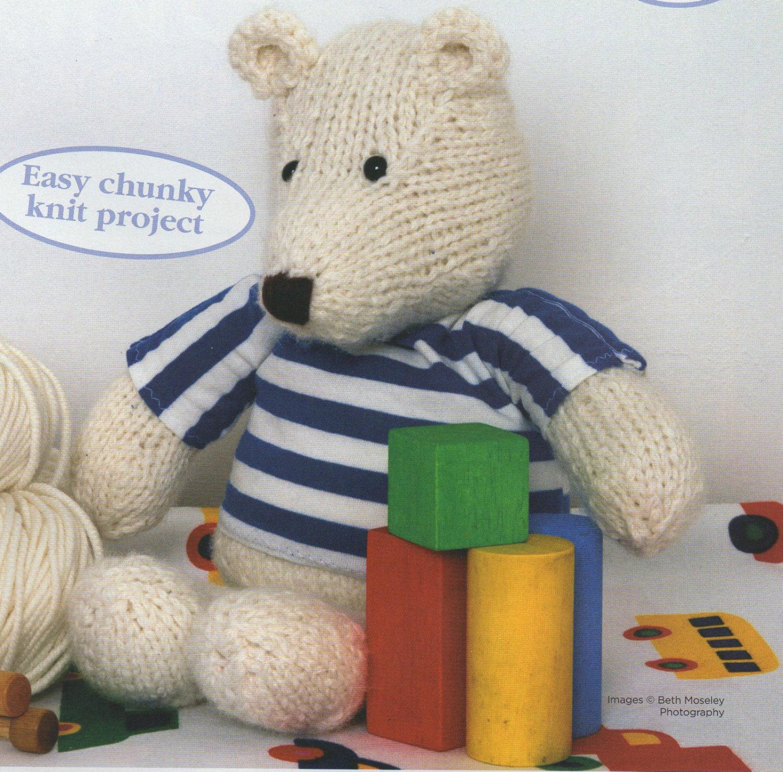 Polar Bear Toy Knitting Pattern 99p
