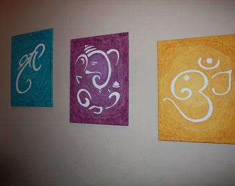 Shree / Ganesha / Om Canvas Painting