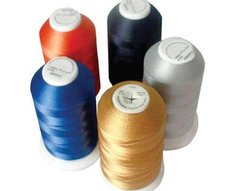 Embroidery Thread, Sewing Threads, 100% Polyester, 5000 Meter Cone, a Wide Selection of Colors