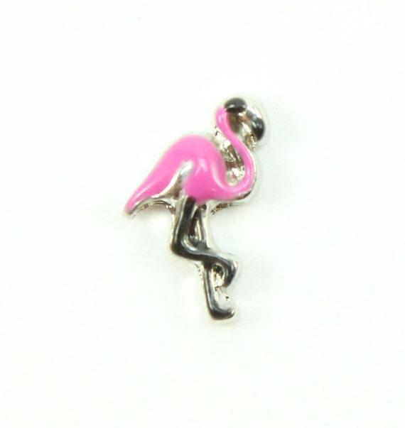pink flamingo charms floating locket animal charms locket
