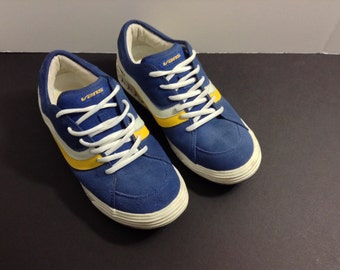 Youth/ boys blue leather sneakers by Vans