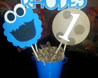 Cookie Monster Centerpieces
