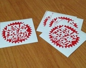 Jesusfreakhideout.com Starburst-Shaped Vinyl Sticker (4)