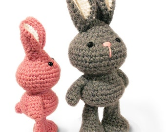 PATTERN : Bunny-Rabbit- Amigurumi bunny pattern - Crochet pattern-Knitted Stuffed animals- doll-toy-baby shower