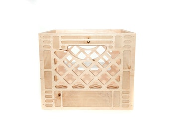 Wooden Milk Crate // Vintage Inspired Milk Crate // Replica Milk Crate