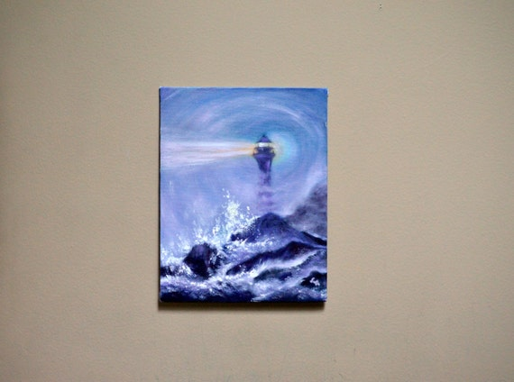 Original painting oil on canvas board small size art for Small canvas boards