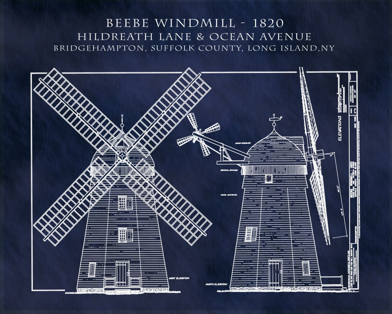 1820 beebe windmill architectural art print poster drawing 1820 beebe windmill architectural art print poster drawing illustration architecture blueprint suffolk county long island malvernweather Image collections