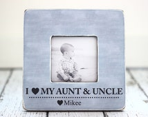Aunt Uncle GIFT Personalized Picture Frame Auntie Uncle from Niece Nephew I Love My