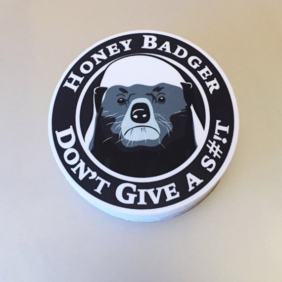Honey Badger Bumper Sticker Vinyl Decal 4x4 By