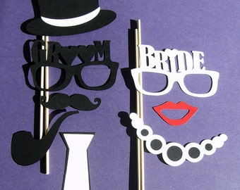 Photo Booth Props Bride and Groom Weddings Marriage (2026D)