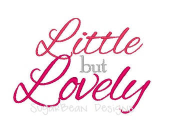 Little but Lovely Embroidery Design. Two Sizes Included. Valentines Day Machine Embroidery Design.