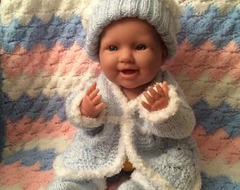 Hand Knit Baby Boy Set