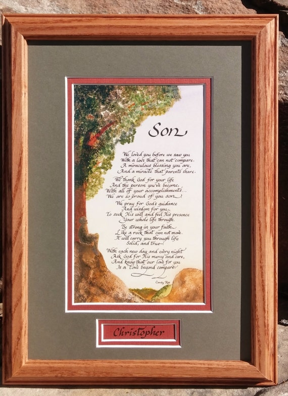 College Graduation Gift Ideas For Son: Gift For Son From Single Parent Or From Both Parents Matted