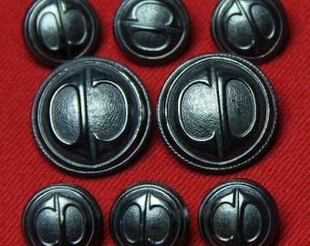 Men's Vintage Hart Schaffner Marx Blazer Buttons Set Made in Sweden