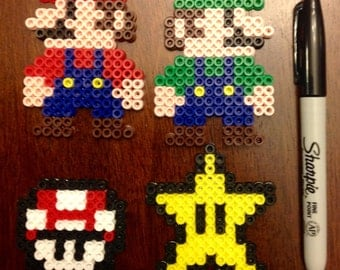 Pacman 8 bit perler bead sprite pattern pattern only nintendo nes