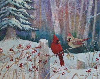 Cardinals in the Woods