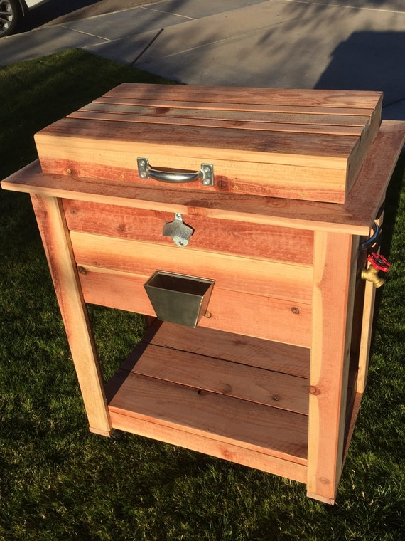 Wooden Ice Chest ~ Rustic wooden ice chest