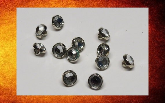 Big sale buttons 12 diamond rhinestone jeweled small for Craft buttons for sale