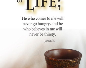 Bread of Life  / Church or Personal Banners for Your Home or Office (G508-1)