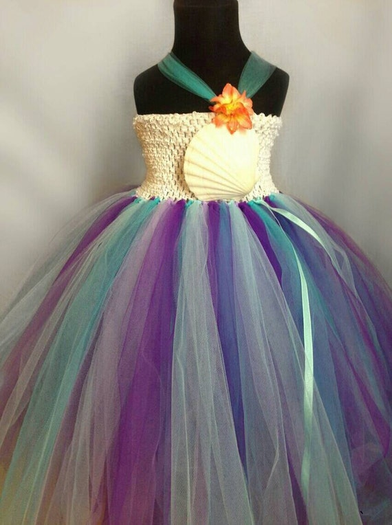Mermaid dress under the sea dress beach theme by tulleandhook for Ocean themed wedding dress