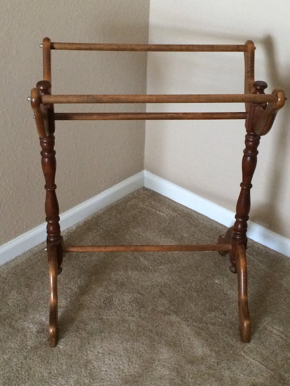 Free US Shipping: Vintage Wooden Quilt Rack By